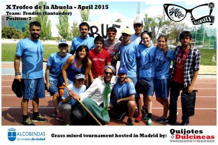 Команда Fendisc натурнире X Edición Trofeo de la Abuela 2015 (Mixed, 7/12)