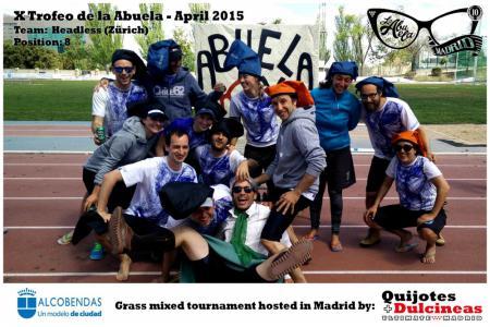 Команда Headless Ultimate Zürich натурнире X Edición Trofeo de la Abuela 2015 (Mixed, 8/12)
