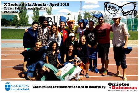 Команда Frisbillanas натурнире X Edición Trofeo de la Abuela 2015 (Mixed, 10/12)