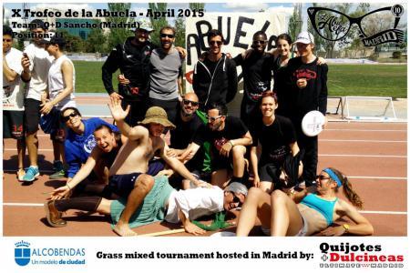 Команда Q+D Sancho натурнире X Edición Trofeo de la Abuela 2015 (Mixed, 11/12)