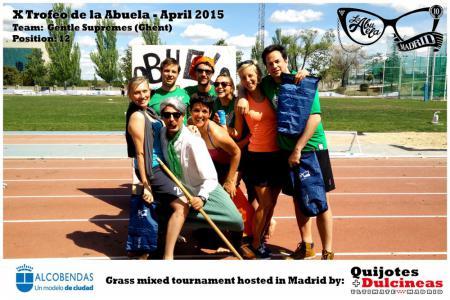 Команда Gentle Supremes натурнире X Edición Trofeo de la Abuela 2015 (Mixed, 12/12)