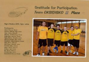 Команда ОксиДискО натурнире Rigas Rudens 2010 (ОД, 3/16)