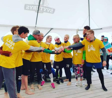 Команда Yellow натурнире Palanga Sands 2019 (МД, 1/6)