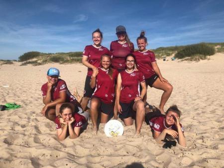 Команда Riga Ultimate натурнире Latvian Beach Ultimate Championship (ЖД, 2/4)