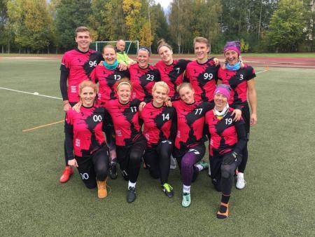 Команда Drop That Smile натурнире Lithuanian Ultimate Championship 2019 (ОД, 5/6)