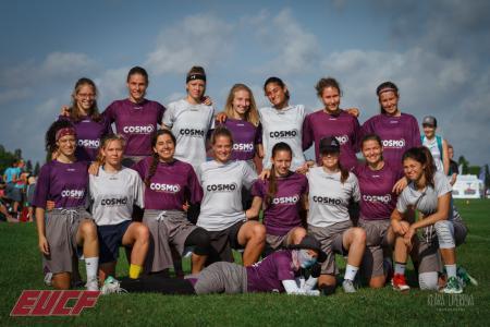 Команда Cosmo Women натурнире EUCF 2019 (Women, 5/12)