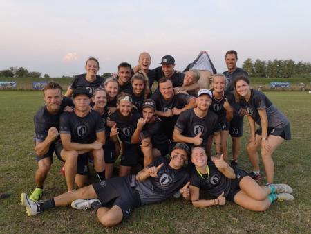 Команда Salaspils MIX натурнире EUCF 2019 (Mixed, 1/12)