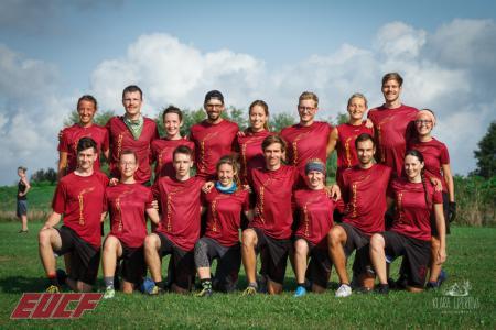 Команда Hässliche Erdferkel натурнире EUCF 2019 (Mixed, 7/12)
