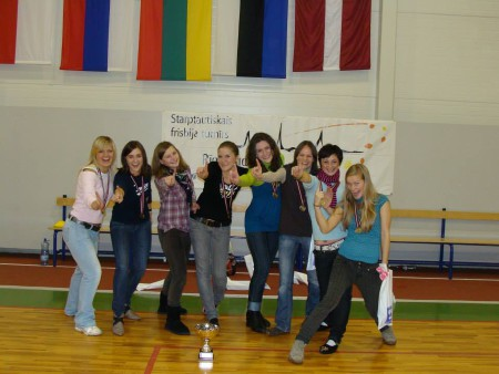 Команда Bubblicious натурнире Rigas Rudens 2009 (ЖД, 1/10)