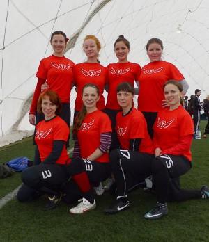 Команда Флаинг Степс натурнире Kick in de Kok 2012 (ЖД, 9/9)