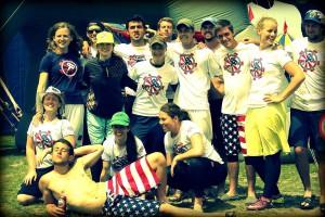 Команда Star Spangled Hammers натурнире Windmill Windup 2013 (Микс дивизион, 13/25)
