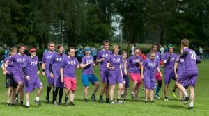 Команда PUF натурнире Windmill Windup 2013 (Микс дивизион, 23/25)
