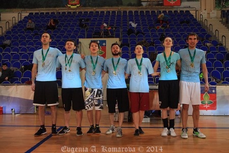 Команда А4 88 лет ВЛКСМ натурнире Весеннее обострение 2014 (Микс дивизион, 2/8)