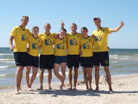 Команда Marių Meškos натурнире Sun Beam 2014 (Микс дивизион, 1/6)