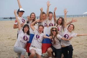 Команда Космик Гелз натурнире Paganello 2011 (ЖД, 3/19)