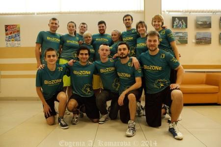 Команда BioZONe натурнире Запуск 2014 (Open 1, 13/17)