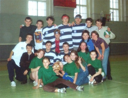 Команда Новгородские медведи натурнире Лорд Новгород 2001 (ОД, 7/12)