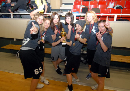 Команда Sharks натурнире Winter Trophy 2009 (ЖД, 1/15)