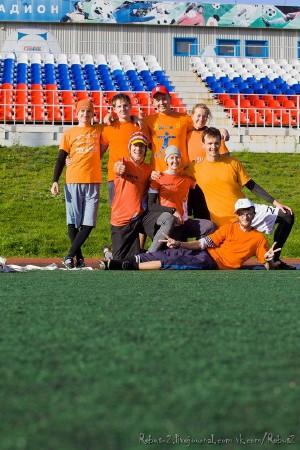 Команда Суперсемейка натурнире Yaroslavl Hat 2012 (Микс дивизион, 5/10)