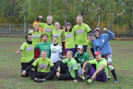 Команда Дружина натурнире Позитрон 2013 (Микс дивизион, 6/8)