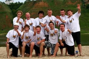 Команда Долгорукие натурнире Мордом в песок 2007 (ОД, 1/14)
