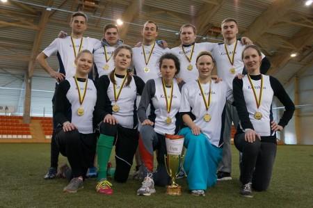Команда KossMix натурнире LUC indoor 2015 (Микс дивизион, 1/8)