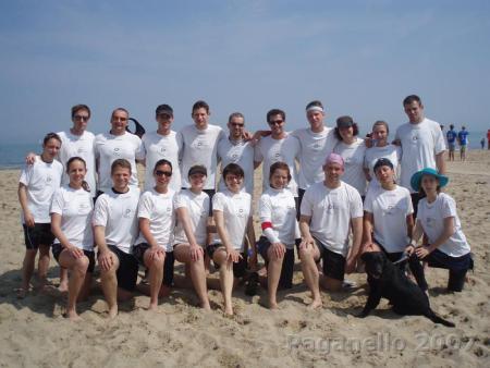 Команда Frizmi натурнире Paganello 2007 (Микс дивизион, 10/24)