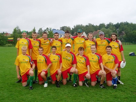 Команда  Lithuania натурнире WUGC 2004 (ОД, 15/18)
