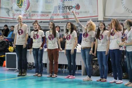 Команда Космик Гелз натурнире Минск 2013 (ЖД, 1/8)