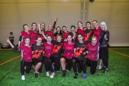 Команда KCN Riga натурнире Kick in de Kok 2015 (ЖД, 4/14)