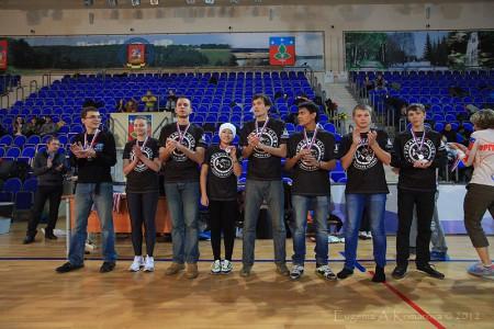 Команда Пиранья натурнире Запуск 2012 (Open-2, 2/18)