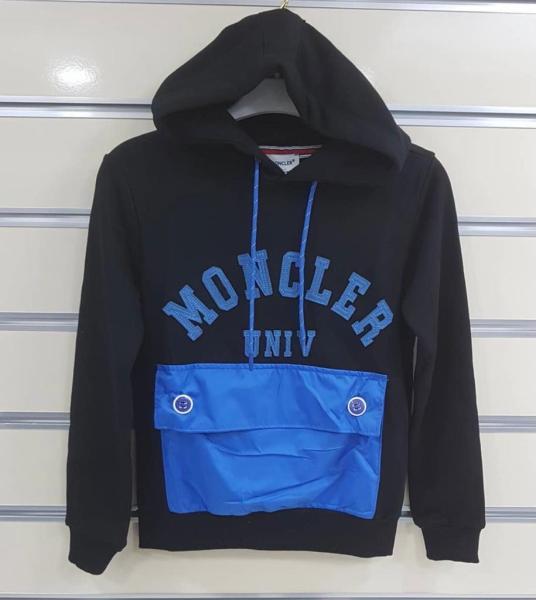 Худі Moncler оригінал, чорно-синій, Італія, 10 років
