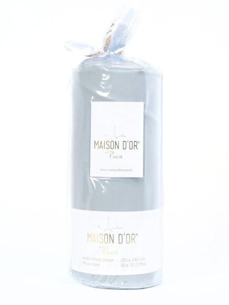 Простирадло сатинове  на резинці MAISON D`OR