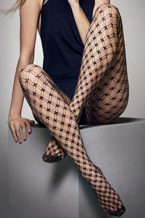 Sokisahtel LILLY kahekordse võrguga sukkpüksid