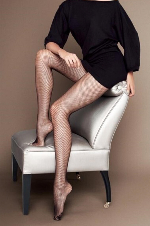 Sokisahtel RETE mustad võrksukkpüksid naistele