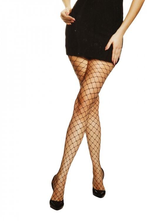 Sokisahtel OCTAGON mustad võrksukkpüksid naistele