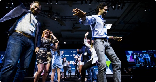 people dancing on stage