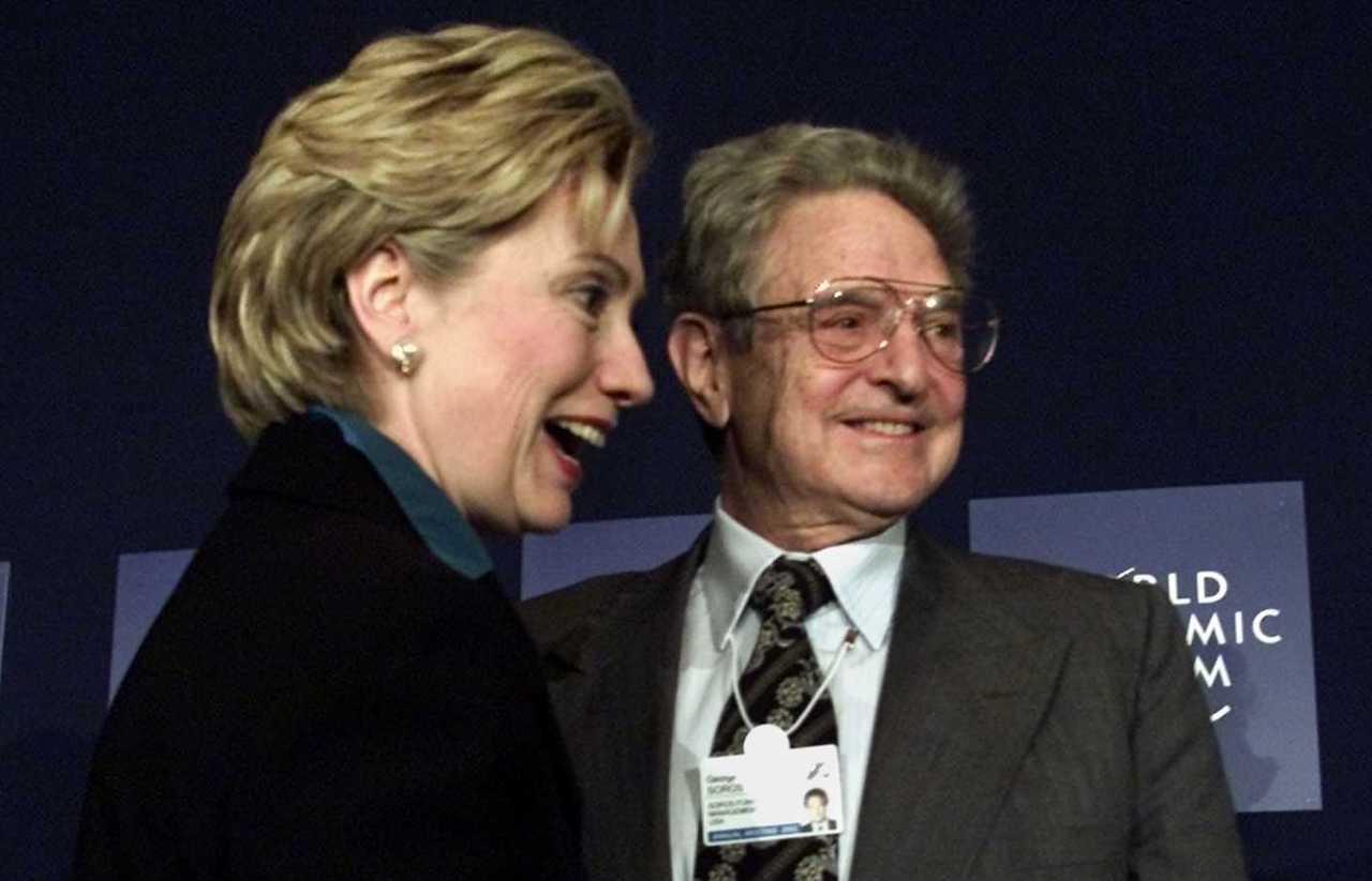 Hillary Clintona George Soros
