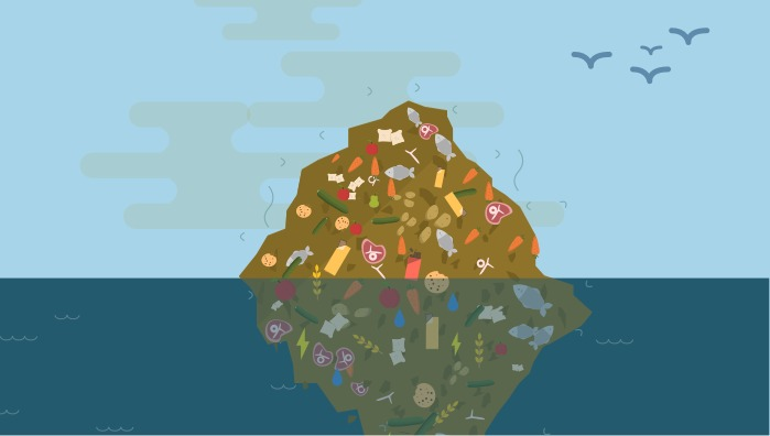 What is wasted when we waste food?