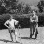 Václav Havel na výletě s přítelem Jiřím Paukertem - Kuběnou (1955)