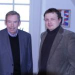 Václav Havel a Mikuláš Kroupa, ředitel POSt BELLUM