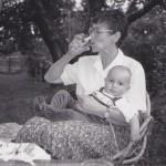 Helena Illnerová s prvním vnoučetem