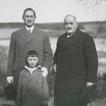 S tatínkem a dědou, Rakovník 1928