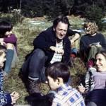 Před chatou Primaverou v roce 1972