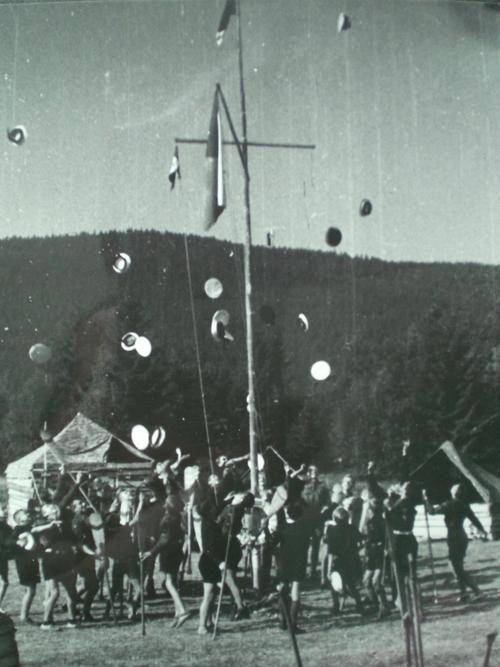 Tábořiště na Šumavě 1946