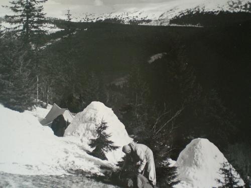 Bivak v zimě v Krkonoších