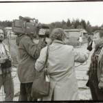 František Zahrádka při interview někdy asi na konci 60. letech 20 století