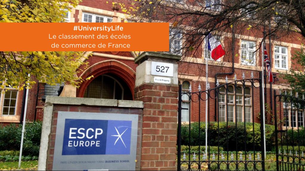 #UniversityLife   Le classement des écoles de commerce 2019 image