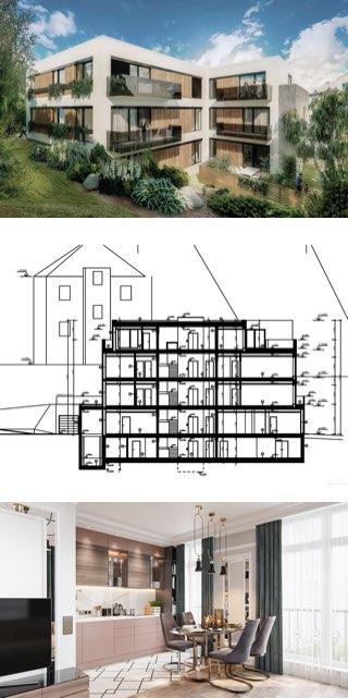 Projekt Bytový dům V Holešovičkách