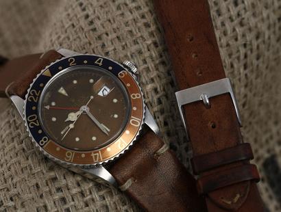 Vintage lederen horlogeband